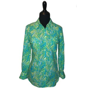 Lilly Pulitzer Button Down Shirt Blue