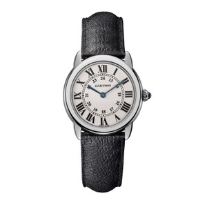 Cartier Cartier Women's Silver Dial Ronde Solo Leather Watch WSRN0019