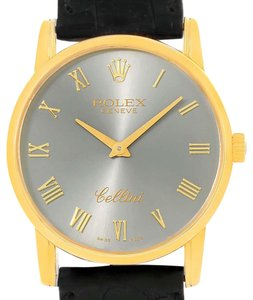 Rolex Rolex Cellini Classic 18k Yellow Gold Slate Dial Watch 5116