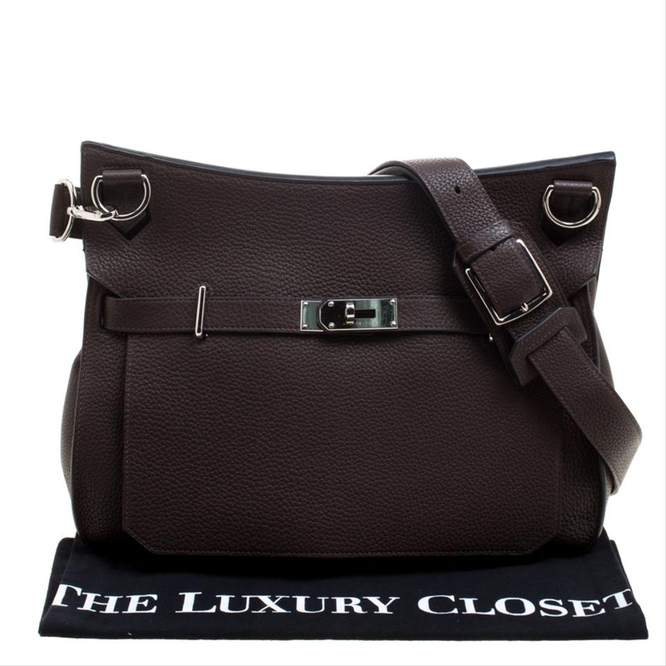 Bag Clemence Shoulder Jypsiere Brown Hermès Leather Cacao Taurillon 37 C8RRqt