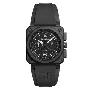Bell & Ross Bell & Ros Men's Black Aviation Automatic Rubber Watch BR0394-BL-CE