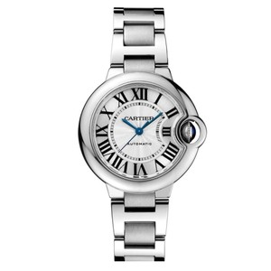 Cartier Cartier Women's Silver Ballon Bleu Automatic 33mm Watch W6920071