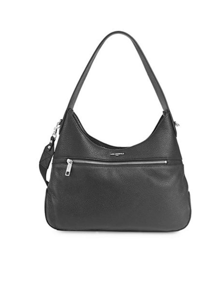 bb528e368436 Karl Lagerfeld Paris Martina Cadet Black Leather Hobo Bag - Tradesy