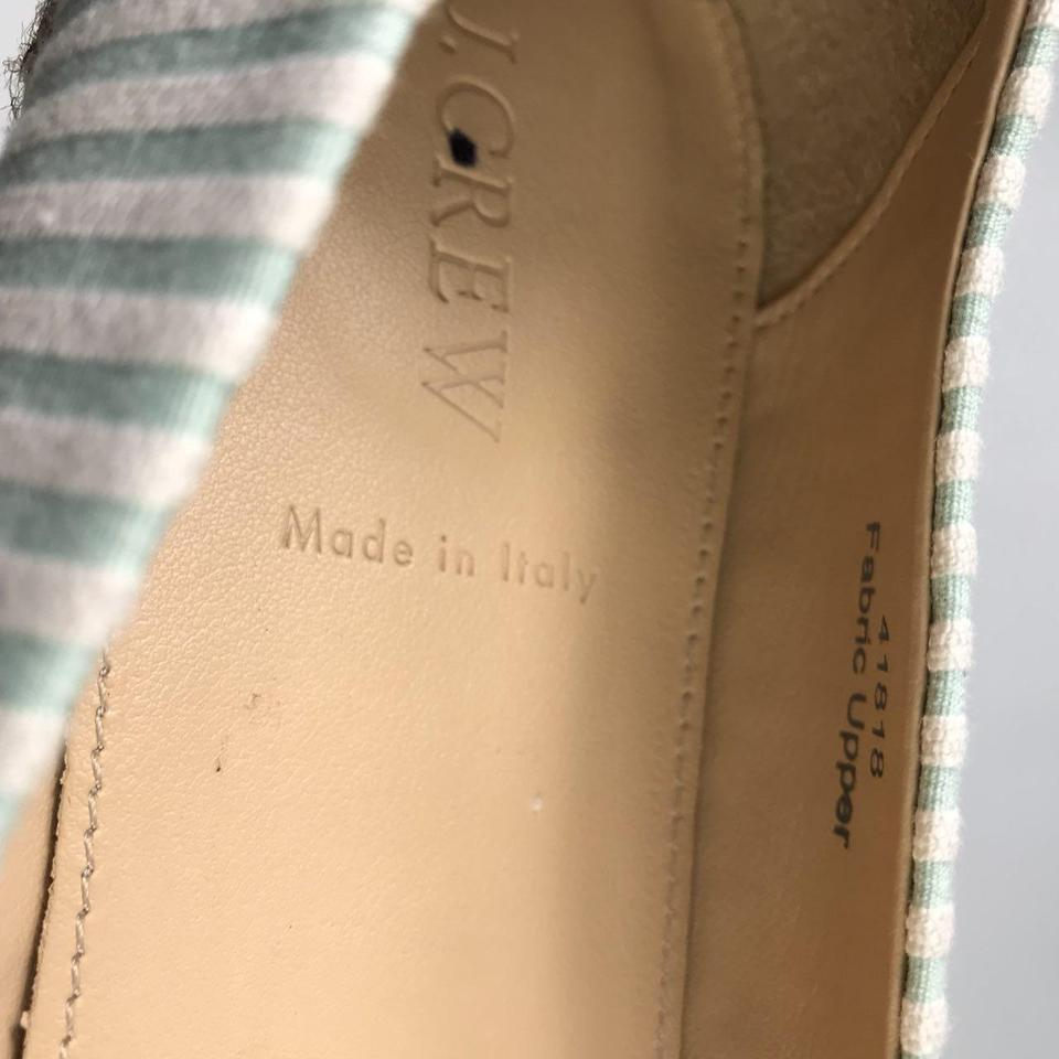 Genuine In Made Green J Flats White Crew Italy Women's L Espadrille S6SFxqwZP