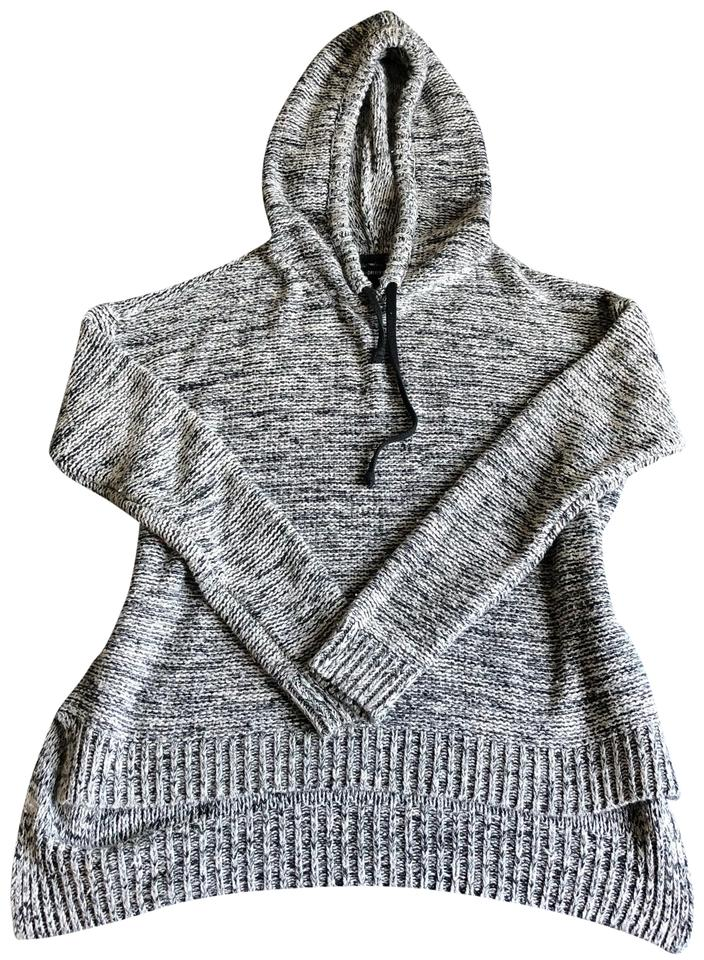 919d55e878 Forever 21 Gray High Low Knit Hooded Hoodie Sweater - Tradesy