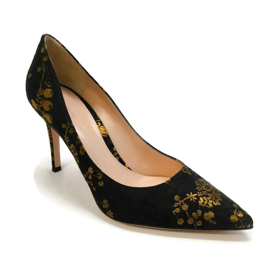Gianvito Kyoto Rossi Black / Gold Kyoto Gianvito Satin Pumps 099478