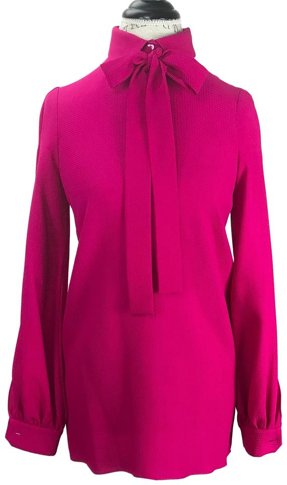 a2b8bd1f689d1 Gucci Red New 352549 Slit Sleeve Tie Neck Silk 38  Us Blouse Size 2 ...