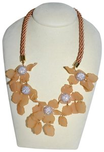 Lele Sadoughi LELE SADOUGHI Crystal Lily Statement Resin Necklace Honey Blush