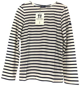Saint James T Shirt Ecru/Marine