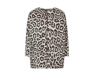 Whistles Leopard Winter Structured Animal Print Jacket