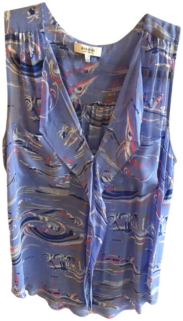 Aritzia Silk Silkblouse Top blue Image 0