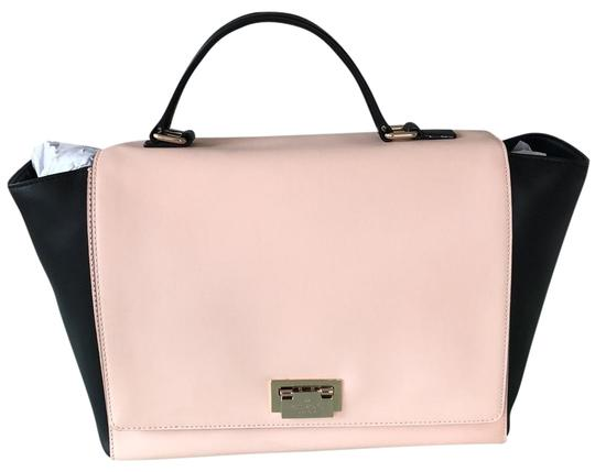 Preload https://img-static.tradesy.com/item/23924829/kate-spade-magnolia-park-large-laurel-black-and-pink-leather-satchel-0-1-540-540.jpg