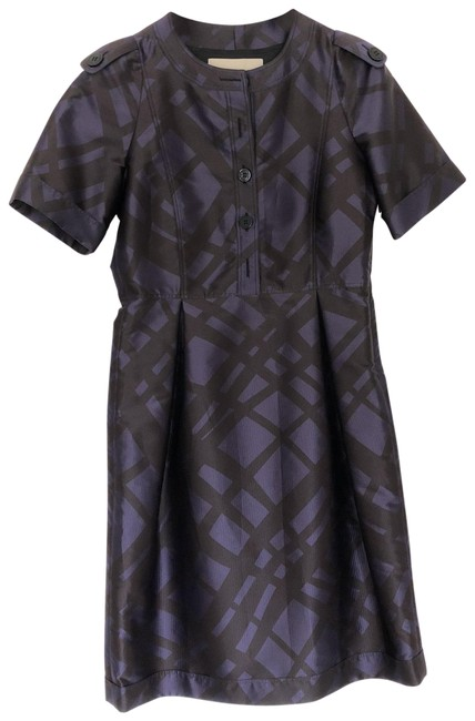 Preload https://img-static.tradesy.com/item/23924849/burberry-london-plum-color-with-nova-check-pattern-wjoelle-mid-length-cocktail-dress-size-4-s-0-2-650-650.jpg