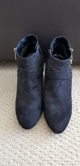 Mossimo Supply Co. Suede Black Wedges Image 1