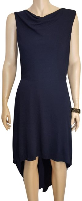 Item - Dark Navy High-lo Mid-length Night Out Dress Size 10 (M)