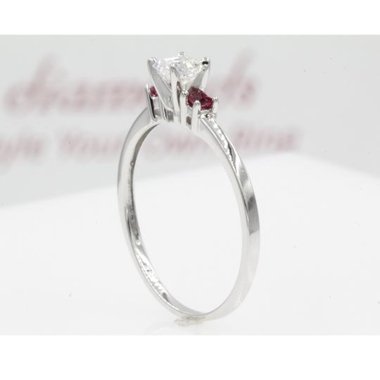 14k White Gold Gia Certified .60 Carat Asscher Cut Stone Engagement Ring Image 3