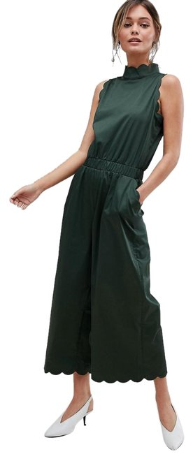 Preload https://img-static.tradesy.com/item/23924935/ted-baker-dark-green-naomay-high-neck-scalloped-0us0-2-new-mid-length-romperjumpsuit-size-0-xs-0-1-650-650.jpg