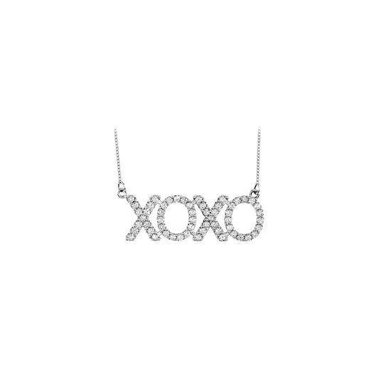 Preload https://img-static.tradesy.com/item/23924939/white-925-sterling-silver-xoxo-cubic-zirconia-one-carat-with-18-inc-necklace-0-0-540-540.jpg