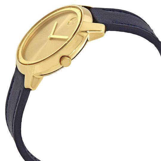 Movado Bold Sunray Dial Ladies Leather Watch Image 1
