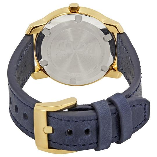 Movado Bold Sunray Dial Ladies Leather Watch Image 2