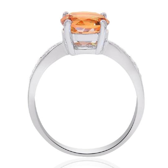 Avital & Co Jewelry Sterling Silver Citrine And Diamond Accent Ring Image 1