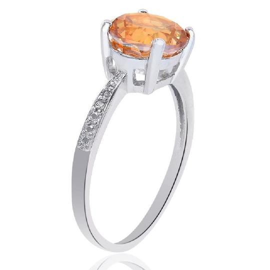 Avital & Co Jewelry Sterling Silver Citrine And Diamond Accent Ring Image 2
