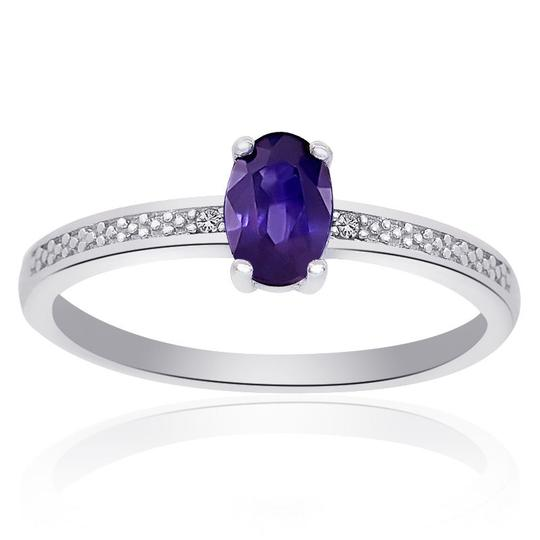 Preload https://img-static.tradesy.com/item/23925184/avital-and-co-jewelry-white-sterling-silver-amethyst-diamond-accent-ring-0-0-540-540.jpg