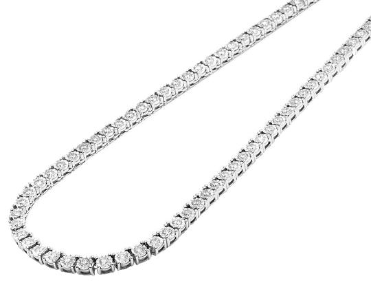 Preload https://img-static.tradesy.com/item/23925195/jewelry-unlimited-10k-white-gold-mens-1-row-tennis-choker-diamond-chain-1015ct-necklace-0-1-540-540.jpg