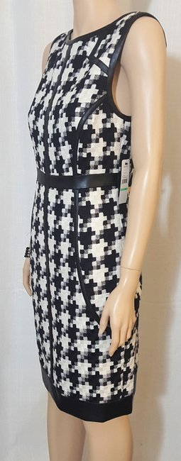 Laundry by Shelli Segal Houndstooth Sheath Winter Fall Dress Image 1