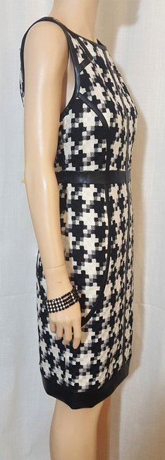 Laundry by Shelli Segal Houndstooth Sheath Winter Fall Dress Image 2