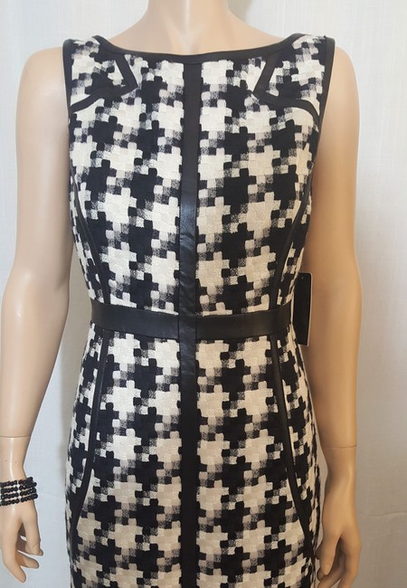 Laundry by Shelli Segal Houndstooth Sheath Winter Fall Dress Image 4