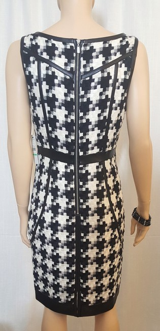 Laundry by Shelli Segal Houndstooth Sheath Winter Fall Dress Image 5