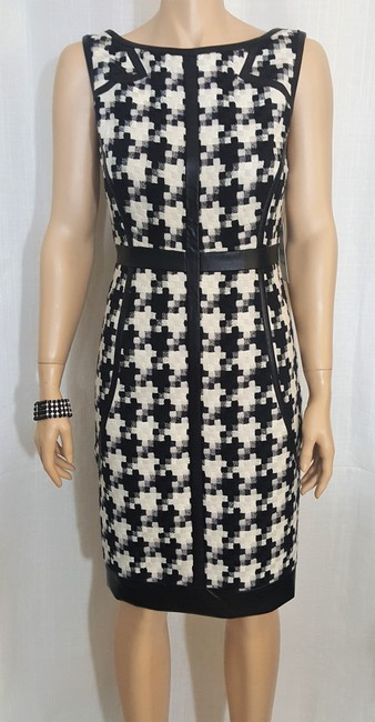 Laundry by Shelli Segal Houndstooth Sheath Winter Fall Dress Image 6