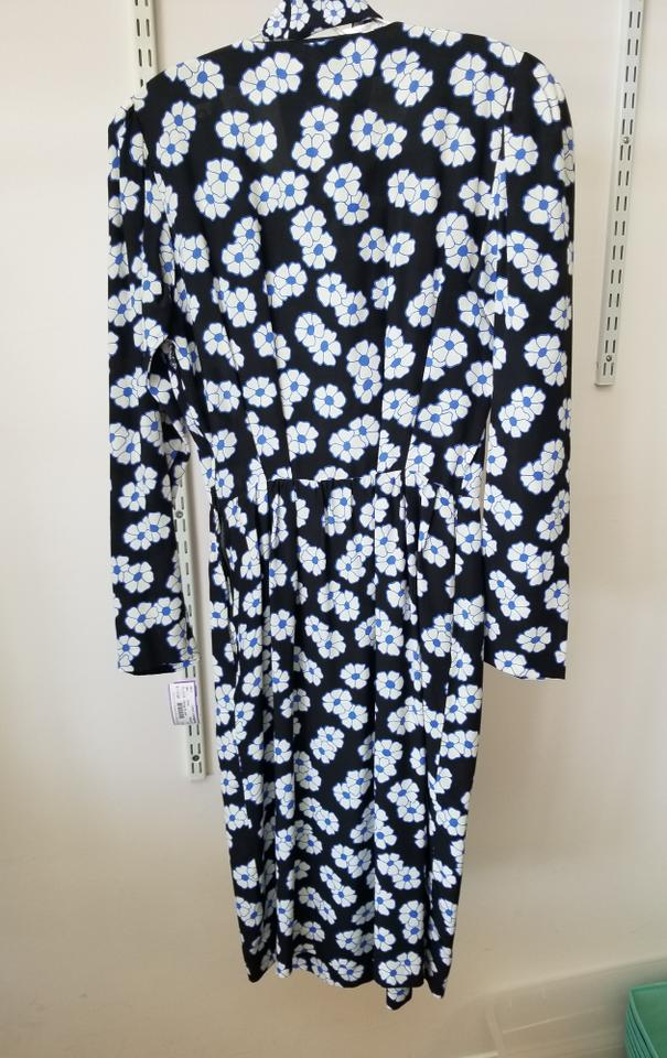Short Casual Black Saint White Vintage Laurent Blue Dress qUY7x7Xvw