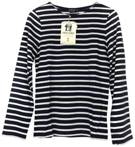 Saint James T Shirt Marine/Neige