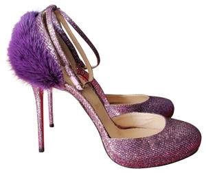 Christian Louboutin Purple, Silver, Gold Formal