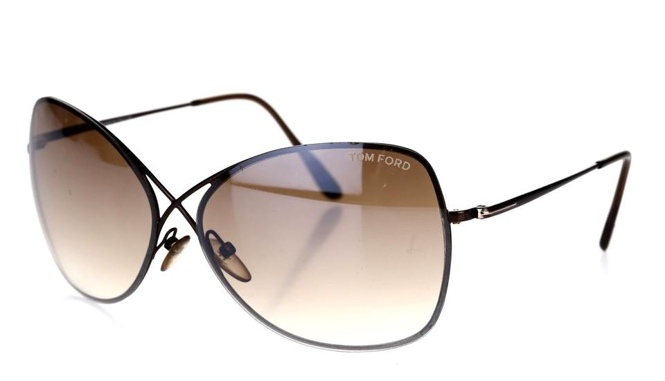 740a389e112 Tom Ford TOM FORD TF 250 48F Colette Butterfly Sunglasses Dark Brown NEW!