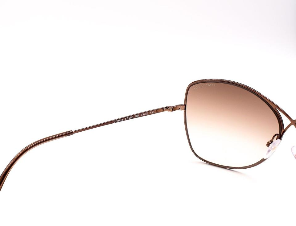 0a7056dc19fb1 Tom Ford TOM FORD TF 250 48F Colette Butterfly Sunglasses Dark Brown NEW!  Image 8. 123456789