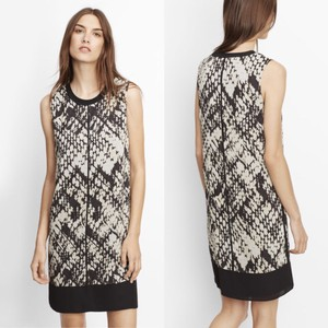 Vince short dress Black and White on Tradesy