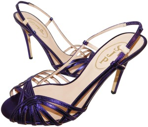 SJP by Sarah Jessica Parker Strappy Heels Leather Purple Sandals