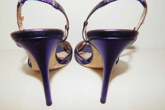 SJP by Sarah Jessica Parker Strappy Heels Leather Purple Sandals Image 2