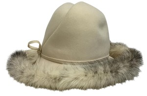 Mr. John Cream felt hat with mink trim