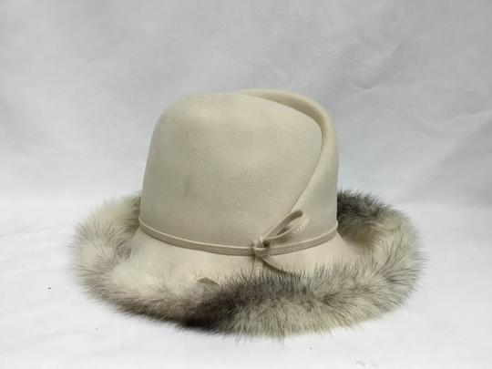 Mr. John Cream felt hat with mink trim Image 1