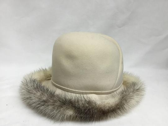 Mr. John Cream felt hat with mink trim Image 2