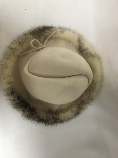 Mr. John Cream felt hat with mink trim Image 5
