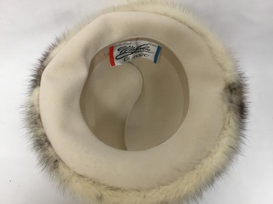 Mr. John Cream felt hat with mink trim Image 6