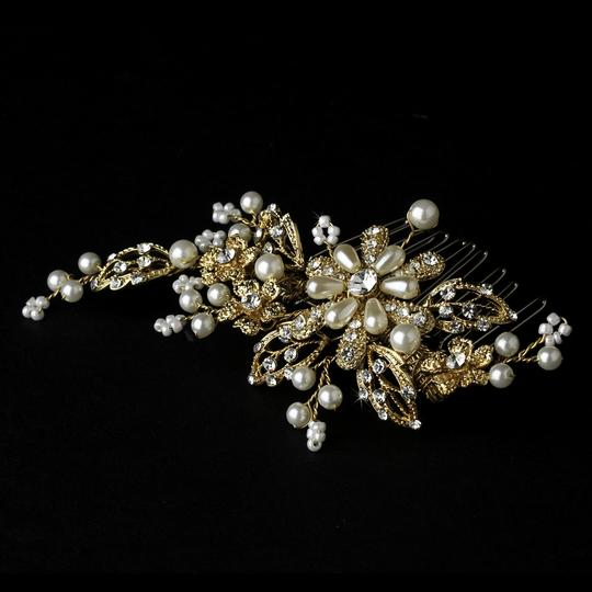 Elegance by Carbonneau Silver Or Gold Pearl Comb Hair Accessory Image 1