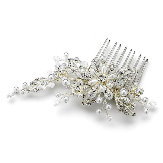 Elegance by Carbonneau Silver Or Gold Pearl Comb Hair Accessory Image 2
