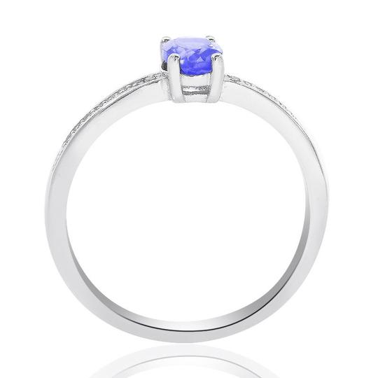 Avital & Co Jewelry Sterling Silver Tanzanite and Diamond Accent Ring Image 1