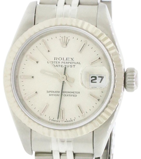 Rolex Ladies Rolex Stainless Steel Datejust Silver 69174 Image 0